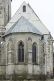 Valjala kiriku apsiidi uus katus ja kooriruumi restaureeritud idaviil 2018. Foto: Peeter Säre