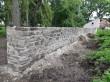 Koigi mõisa pargi piirdemüürid, vaade müüri siseküljele. Foto: K. Klandorf 11.07.2019.