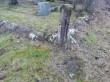 Järva-Madise kalmistu läänenurk (piirikivi ja piirdeaia post). Foto: K. Klandorf 15.01.2020.