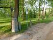 Luke mõisa pargi  väravapostid. Foto autor I. Raudvassar 30.05.2020.