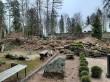 Viru-Jaagupi kalmistu. Foto: Raili Uustalu 26.11.2019. Vaade kalmistul.