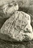 Kultusekivi reg nr 12415 (675) - põhjast. Foto: E. Väljal, 04.10.1984. (Muinsuskaitseameti arhiiv).
