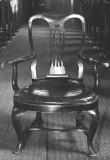 Tugitool chippendale'i stiilis. 18. saj. (puit, nahkpolster). Foto: arhiiv, MKA umb.1980.