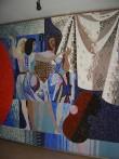 Pannoo «Noorus». E. Põldroos, 1969 (keraamiline mosaiik). Detail Foto: S.Simson 07.06.2007