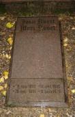 Perekond Uusmani hauamonument. J. Koort, 1932 (graniit). Hauaplaat platsil Foto:  Sirje Simson 07.10.2007