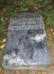 Alfred Rõude hauakivi. J. Raudsepp, 1971 (graniit) Foto: Sirje Simson 09.10.2007