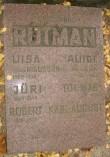 Perekond Rütmani hauasammas. A. Starkopf, 1938 (graniit). Hauaplaat Foto: Sirje Simson 09.10.2007