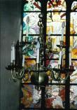 Kroonlühter piiniakäbi ja kahepealise kulliga. 17. saj. (messing). Foto: Jaanus Heinla 2002