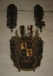 F. v. Üxkülli vappepitaaf. Chr. Ackermann (?), umb. 1700 (puit, polükroomia). Foto: Toomkiriku vapitöökoda 2007