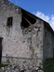Porkuni mõisa ait-kuivati, reg. nr. 15864. vaade lõunast - varisenud seinaosale -torm 08.08.2010. pilt. Anne Kaldam aeg: 23 08.2010