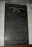 1812. aasta Isamaasõjas langenute epitaaf. 19. saj. (kunstkivi). Foto: Sirje Simson 28.02.2006