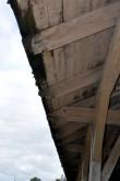 Haapsalu raudteejaama kaubaladu, mahasaetud räästas Tõnis Padu foto  22. sept 2010