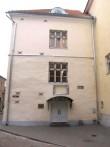 Maja, kus aastail 1633-1828 asus Tallinna esimene trükikoda (sissepääs)