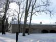 Arkna mõisa sõiduhobuste tall, 15757,vaade pargist-kirdest , katus on keskmisest osas lume koormuse all sisse kukkunud  autor: Anne Kaldam aeg.04 .02.2011