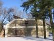 Uhtna mõisa ait 15817 : vaade läänest , näha sissevarisenud katus ja kahjustatud sein   Autor Anne Kaldam  Kuupäev  28.02.2011