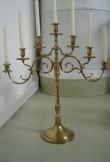 Laualühter (altarilühter) seitsme tulega. Svenska Metallverken, Rootsi, annetatud 1912 (messing, kullatud) S.Simsoni foto,2005