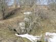 15.04.2011 Martti Veldi. Fragment säilinud linnuse müürist.