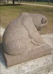 """Skulptuur """"Karu"""". E. Roos, 1939 (graniit) Foto: Sirje Simson 02.05.2006"""