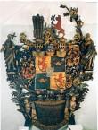 O. v. Üxküll-Güldenbandi  vappepitaaf. Umb. 1690 (puit, polükroomia). Foto: Toomkiriku vapitöökoda 2000