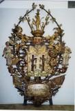 W. v. Stackelbergi vappepitaaf. Umb. 1691 (puit, polükroomia). Foto: Toomkiriku vapitöökoda 2000