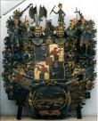 J. F. v. Lieweni vappepitaaf.  Umb. 1713 (puit, polükroomia). Foto: Toomkiriku vapitöökoda 2004