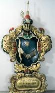 F. P. v. Krusenstierni  vapp-epitaaf. 1857 (puit, polükroomia). Foto: Toomkiriku vapitöökoda 1995