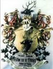 A. von zur Mühleni vappepitaaf. Umb. 1901 (puit, polükroomia). Foto: Toomkiriku vapitöökoda 1994