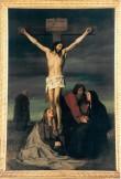 """Altarimaal """"Kristus ristil"""". E. v. Gebhardt, 1866 (õli, lõuend). Foto: Jaanus Heinla 2003"""