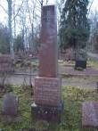 Hauatähis Rapla kalmistul - vabadussõjas langenud G. Zimmermanni haud. K. Klandorf 20.12.2011