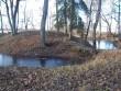 Vaade pargi põhjaosas asuvale tiigi saarele peahoone poolt. K. Klandorf 28.12.2011