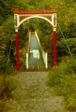 Viljandi linnusepargi rippsild. Foto: A.Joonsaar 1985