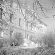 """Koht, kus hukati ristleja """"Pamjat Azova"""" 2. augusti (20. juuli) 1906. a. ülestõusu juhid ja aktiivsed osavõtjad, endise ENSV MN hoone ees. Foto: H. Kõlar, 1971"""