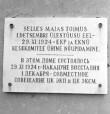 Maja, kus 29. nov. 1924. a. toimus EKP Keskkomitee ja EKNÜ Keskkomitee ühine koosolek, mälestustahvel. Foto: T. Kohv, 1966