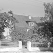 Maja, ku 1931. a. asus EKP põrandaalune trükikoda, maja välisvaade. Foto: H. Kõlar, 1974