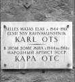 Mälestustahvel. Foto: T. Kohv, 1967