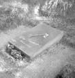 Hauaplaat. Foto: H. Kõlar, 1971