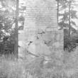 Monument Paide linna vallutamisel 1573. a. langenud vene sõduritele, vaade aastaarvule. Foto: H. Kõlar 1984