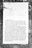 """""""Ristimägi""""-Rahvapärimusega seotud koht. Tekstitahvel. Foto: M. Pakler, juuli 1981"""