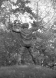 """""""Puuaiasõja"""" monument, tagantvaade. Foto: H. Kõlar 1985"""