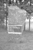 Tekst mälestuskivil. Foto: H. Kõlar, 1975