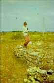 Rebala Lastekangrud, peale V. Lõugase ja enne V. Langi kaevamisi, Juta Kornav. Foto: A.Kraut 1990-1992