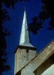 Viru-Nigula kiriku torn restaureeritud 1988. Foto: Heino Uuetalu ,1989