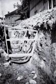 Väljakaevamised Tartus Magasini tänaval. Foto: Veljo Ranniku 1968.a