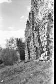 Vaade Laiuse ordulinnuse varemete SW müürile Foto: V. Ranniku 1960