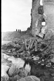 Vaade Laiuse ordulinnuse varemete N torni alusele paisutammile Foto: V. Ranniku 1960