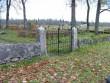 Pärnu-Jaagupi kalmistu piirdemüür ja värav Foto: J. Vali 27.10.2004