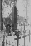 Juhan Liivi hauasammas Alatskivi surnuaial. Foto: V. Ranniku 1960