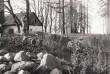 Edise linnuse tornivare S vaade mõisa maa-alal. Foto: V. Ranniku 1962