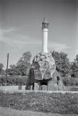 Väinameres II maailmasõjas hukkunud Nõukogude meremeeste mälestussammas. Foto: V. Ranniku 1964