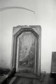 """Kolga-Jaani kirik, vana altariseina detail maaliga """"Ülestõusmine"""". Foto: V. Ranniku 1965"""